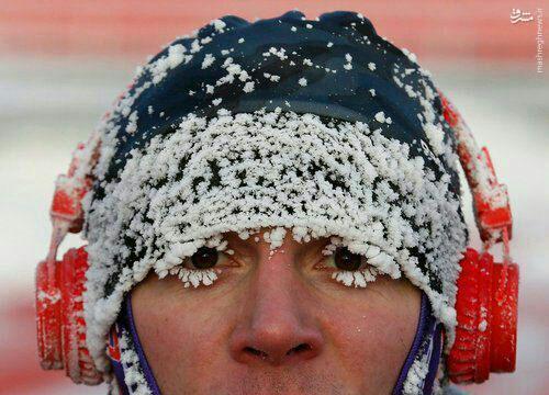 عکس/ عاقبت دویدن در دمای 25- درجه