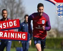 تمرین امروز تیم ملی انگلیس (