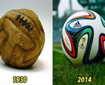 سیر تکامل توپ های جام جهانی از 1930 تا کنون