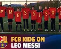 تبریک آکادمی های بارسلونا در سراسر جهان به لیونل مسی