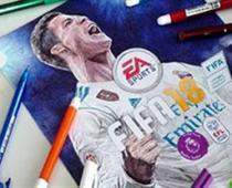 نقاشی زیبا از کاور بازی فیفا