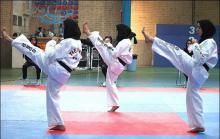 برگزاری مسابقات قهرمانی تکواندو بانوان شهرستان همدان