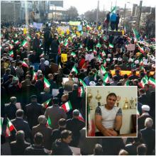 پرچم پر افتخار ایران بر بالای قله بصیرت و عشق / به اهتزاز در آمدن پرچم عزیز ایران با دستان نائب قهرمان المپیک