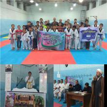 برگزاری مسابقه اذان بین ورزشکاران کاراته در شهرستان رزن