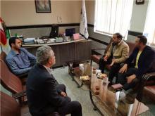 دیدار رئیس اداره ورزش و جوانان مریانج با رئیس هیئت کاراته استان