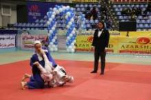 صدر نشینی مقتدرانه بانوان همدان در روز نخست مسابقات جودو بزرگسالان کشور
