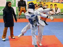 قضاوت راضیه خدابنده لو در مسابقات قهرمانی آزاد جوانان و بزرگسالان کشور