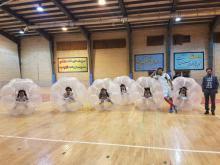 راهیابی دانشجویان علوم پزشکی همدان به فینال مسابقات فوتبال حبابی