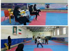 برگزاری مسابقات انتخابی تکواندو بانوان استان همدان در بخش پومسه