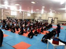 مسابقات کونگ فو انتخابی بانوان استان در همدان برگزار شد